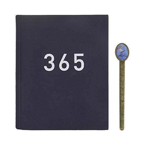 Taccuino per appunti, formato A5, pagine bianche e a righe, agenda di pianificazione degli orari, taccuino per appunti per accompagnare l'obiettivo in 365 giorni con 1 segnalibro. a5 Bleu foncé