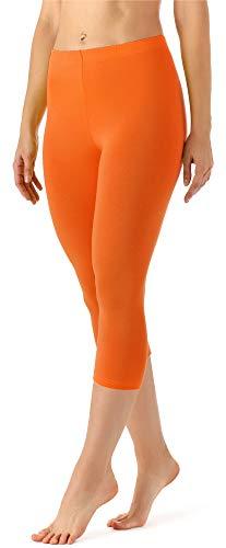 Merry Style Damen Leggings 3/4 aus Viskose MS10-144 (Orange, XL)