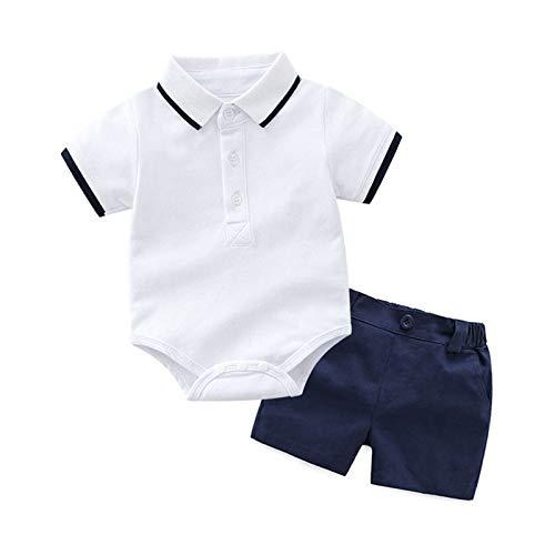 Rumity Kleinkind Baby Mädchen Outfits 2pcs Babyset Plissee Langarmhemd mit Schleife und Mode Ledershorts Kinder Baumwolle Neugeboren Kleidung Set für 3M-2 Jahr