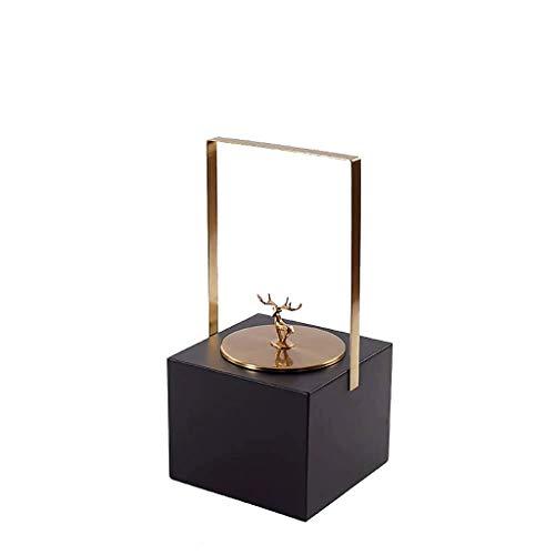 SCDZS Ewelry Box for Mujeres, Compartimentos, Collar, Organizador de Joyas, con candado, Porta Joyas, Pendientes, Pulseras, Anillos, Negro (Color : B)