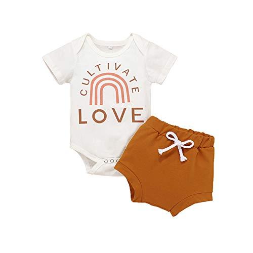 Julhold Enterizo de manga corta para bebés recién nacidos para niñas de 0 a 18 meses
