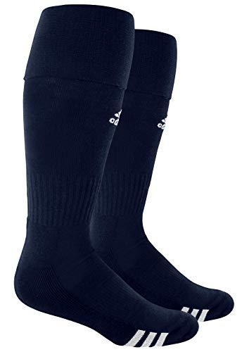 adidas Unisex Rivalry Soccer OTC Socks (2-Pair), Collegiate Navy/ White, Medium
