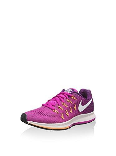 Nike - Wmns Air Zoom Pegasus 33, Scarpe da ginnastica Donna, Rosa (Fire Pink/weiß/bright Grape), 42 EU