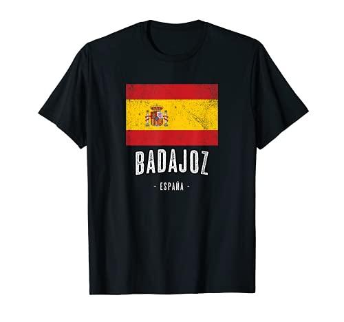 Badajoz España | Souvenir Linda Ciudad - Bandera Española - Camiseta