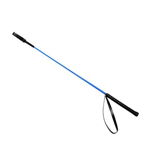 XMXM Sanda Whip portátil defensiva Fusta de Cuero de Vaca Batir el látigo látigo Corto fierecilla Whip Entrenamiento Ecuestre de la Aptitud Whip Escenario de funcionamien Blue