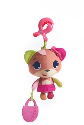Tiny Love Izzy L'Orsetto Gioco per Passeggino per Bambini e Neonati, Peluche Vibrante con Massaggiagengive e Clip Aggancio Universale, Coll. Tiny Princess Tales