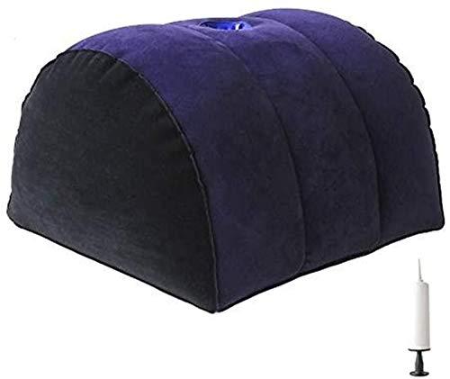 Elabott Inflatable S&éx Pillows Half Position Moon Cushion for Woman S@ex Cushion for deep Penetration Suitable Pillow Body Position Wedges Suitable for Couples Assist Posture Positioning Chair