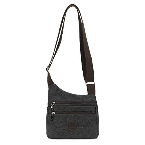 Eshow Women's Shoulder Bag Canvas Cross Body Bag for Women Messenger Bag Satchel Leisure Casual Hobo Bag