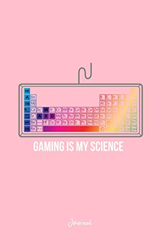 Journal: Dot Grid Journal - Gaming My Science RGB Keyboard Cool Christmas Gift - Pink Dotted Diary, Planner, Gratitude, Writing, Travel, Goal, Bullet Notebook
