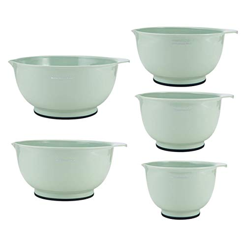 KitchenAid Tigelas clássicas para misturar, conjunto de 5, pistache