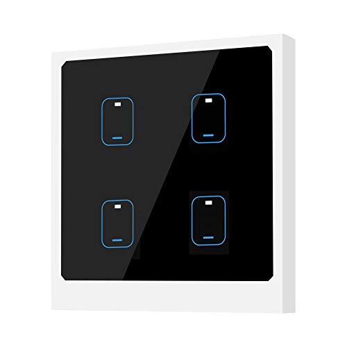 Interruptor de control remoto Interruptor de luz inteligente APLICACIÓN Control de voz remoto 90-250V Control de la aplicación de vida del enchufe de la UE