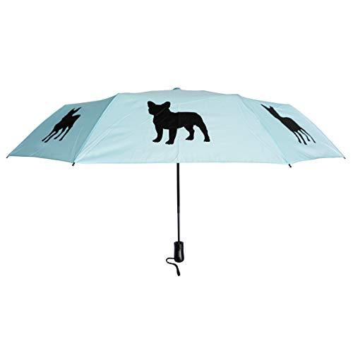 The San Francisco Umbrella Company French Bulldog, Black/White/Island Paradise Blue, One_Size