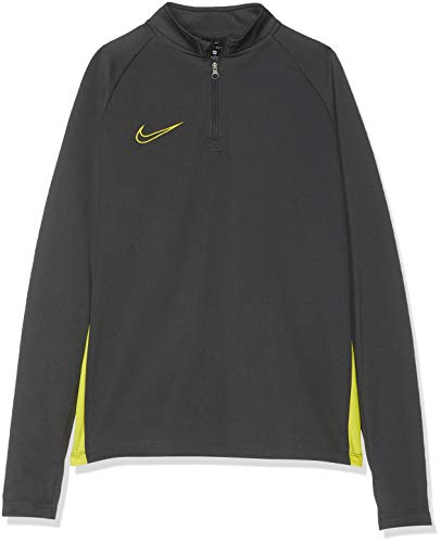 Nike Jungen B NK DRY ACDMY DRIL TOP Long Sleeved T Shirt, AnthraciteOpti YellowOpti Ye, L