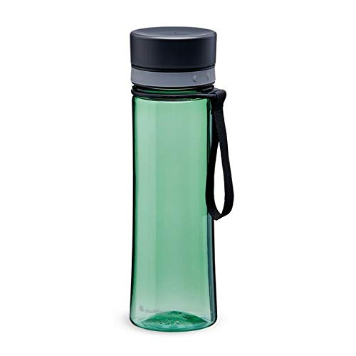 Aladdin Aveo Water Bottle 0.6L Basil Green Leakproof - Wide Opening for Easy Fill - BPA-Free - Smooth Drinking Spout - Stain and Smell Resistant - Dishwasher Safe