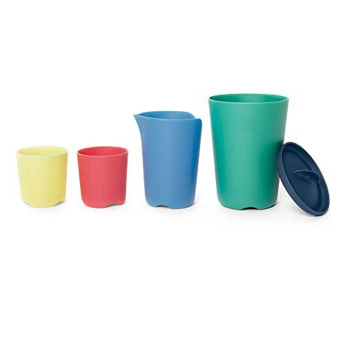 STOKKE® Flexi Bath® – Tazas apilables multicolor para la bañera │ Juguetes de baño educativos para el bebé (+4 meses)