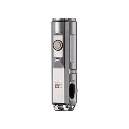 RovyVon Aurora A4x Natural Titanium Material 650 Lumens EDC Mini Keychain Rechargeable LED Flashlight,Silver, Idea as a Gift(Silver)