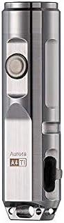 (最新)RovyVon Aurora A4x ナチュラルチタン素材650ルーメンEDCミニキーチェーン充電式クリーLED懐中電灯、ギフトとしてのアイデア(シルバー)