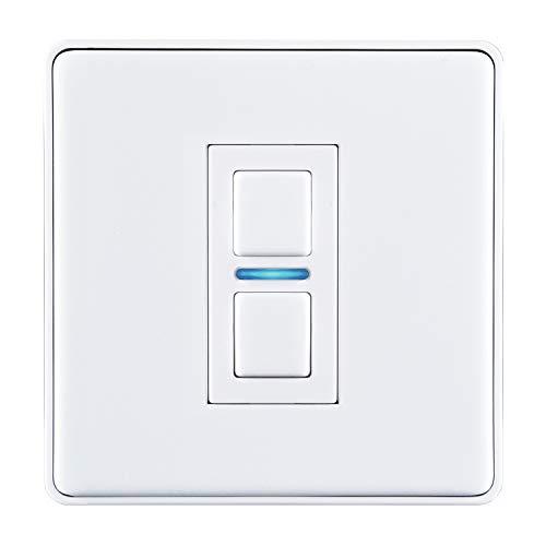 Lightwave L21WH 1 Gang Smart Series Dimmer, White Metal