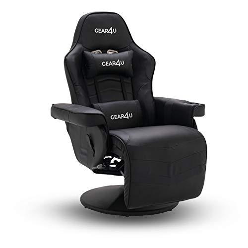 Fauteuil gamer ou cinema Gear4u Knight avec porte gobelet - Chaise Gaming avec revêtement Cuir - Dossier Réglable