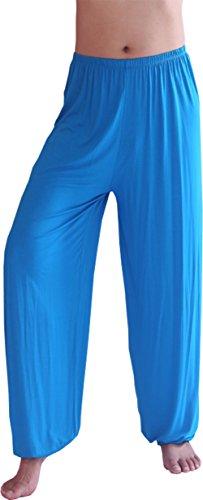 Hoerev Pantalones de Yoga/Pilates para Hombre, Color Negro, Talla Large