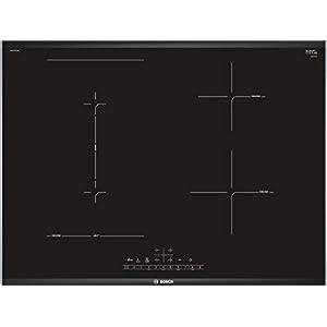 Bosch Serie 6 PVS775FC5E hobs Negro Integrado Con – Placa (Negro, Integrado, Con placa de inducción, 1400 W, 14,5 cm, 1800 W)