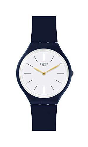 Swatch Reloj Analógico para Mujer de Cuarzo con Correa en Silicona SVON102C