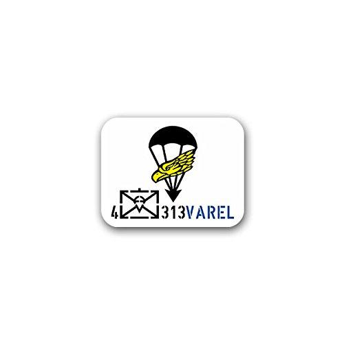 Copytec Aufkleber/Sticker -4 Kp FschJgBtl 313 Kompanie Fallschirmjägerbataillon Fallschirmjäger Fallschirmspringer Falli Varel Bundeswehr Wappen Abzeichen Emblem 9x7cm #A2404