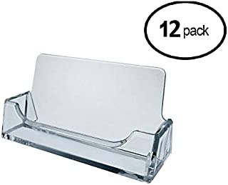 Tag Plastics - Clear Acrylic Business Card Holders (Clear Style A) Pack of 12