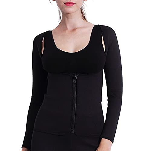 Hhwei Bastu för kvinnor bantning viktminskning svettväst svettning kroppsformare bröstlös långärmad yoga