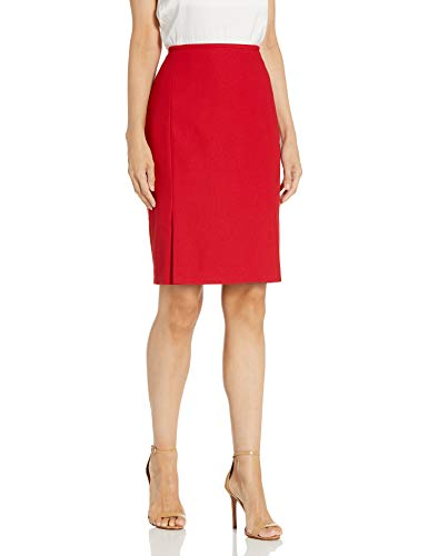 Calvin Klein Women's Straight Skirt, Red, 10