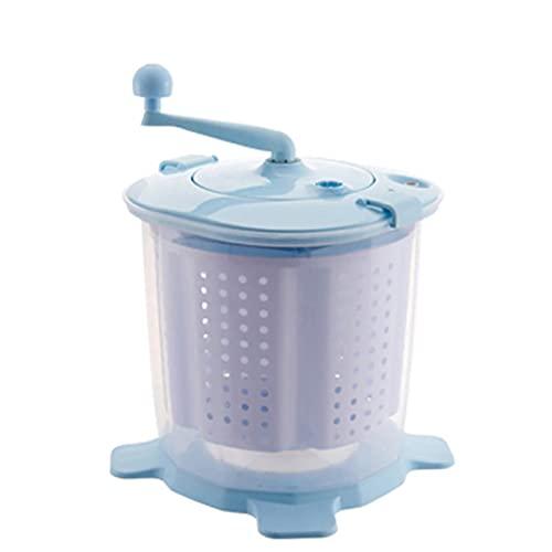 Mini Lavadora Manual Lavadora De Escritorio Pequeña con Asa Y Cesta De Agua Desmontable, Lavadora Portátil De Deshidratación Rápida, para Acampar Al Aire Libre En Familia A