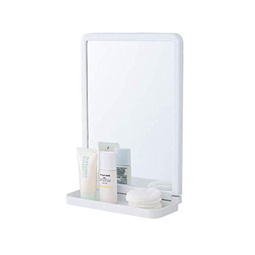 Unishop Espejo de Ducha Espejo Maquillaje de Afeitar Espejo Ligero Espejo de Baño Sin Perforaciones Espejo de Vidrio de Pared Autoadhesivo con 3 Ganchos Pegajosos