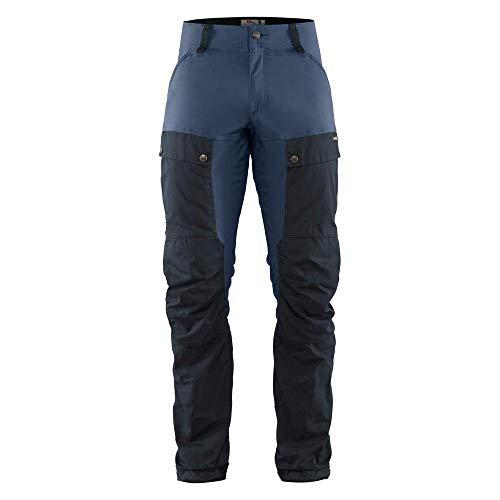 FJÄLLRÄVEN Hose Keb M - Wanderhose mit Taschen und Reißverschlüssen für Herren M Blau (Dark Marine/Onkel blau 555-520)