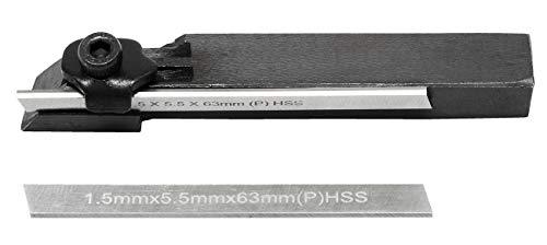 WABECO Abstechstahl Halter 10x10 mit 2 Messer HSS Abstechhalter Drehmeißel