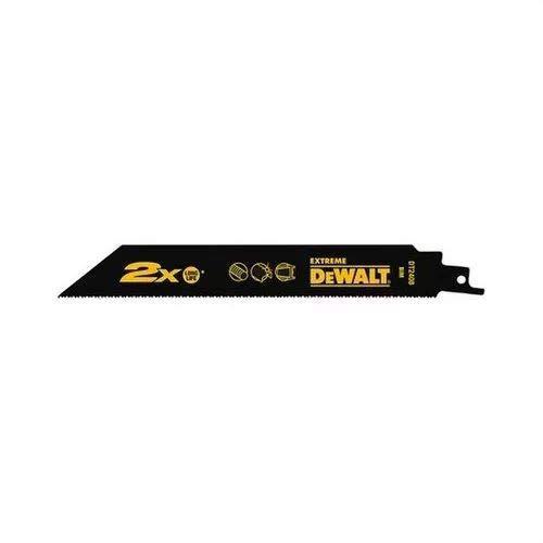 Dewalt DT2307L-QZ DT2307L-QZ-Hoja de Sierra Sable bi-Metal Extreme 2X de demolición, Longitud: 228mm, Paso de Diente: 4,2mm para Madera y Clavos, 0 W, 0 V