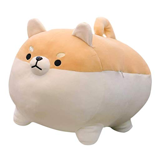 Kawaii Plushies Shiba Inu Plush Plush Toy Pillows Doll Dog, Corgi Plush Dog Stuffed Animal for Decorate Gifts for Friend and Family(16 inch Brown)