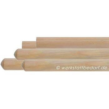 5x Besenstiele aus Kiefernholz 160cm Ø24mm, ohne Konus