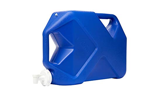 Reliance Products Jumbo-Tainer 7 Gallon Jerry Can Style Rigid Water Container, Blue, 15.5 Inch x 7.3 Inch x 21.8 Inch