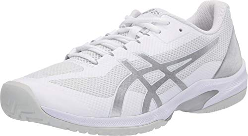 ASICS Men's Court Speed FF Tennis Shoes, 10M, White/Pure Silver