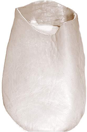 Terrapin Trading Fair-Trade-marokkanische Hausschuhe/Babouche/Loafers 100% Traditionelle marokkanische Leder (43, Weiß)