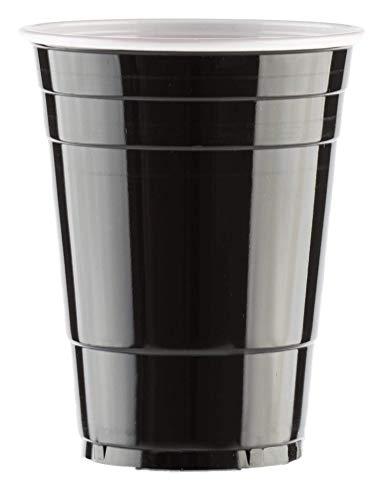 BeerBaller® Black Cups | Bier Pong Set inkl. 25 Schwarze Beer-Pong Becher & 3 Bierpong Bälle | 473ml 16oz – Original American Party-Becher!
