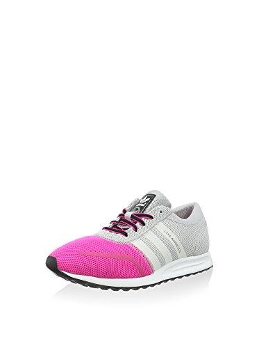 adidas Unisex-Kinder Los Angeles K Sneaker, grau/pink, 37 1/3 EU
