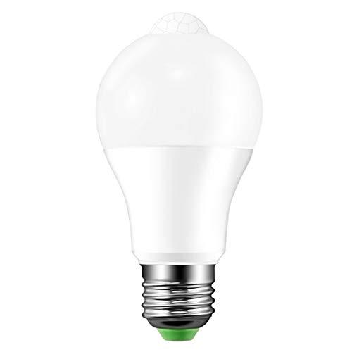 Hemore Bombilla LED con sensor de movimiento 2700 K PIR infrarroja para garaje, porche, escaleras, pasillo, iluminación blanca