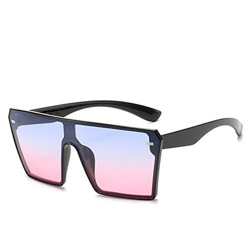 ZGHYBD Gafas de Sol cuadradas Negras, Gafas de Sol polarizadas de Gran tamaño para Mujer, Gafas de conducción al Aire Libre, Juego de protección 100% UV con (Blue Pink)
