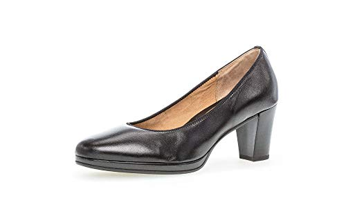 Gabor Damen Pumps, Frauen Plateau Pumps,SACCHETTO-Style,Soft & Smart, modisch sportlich bequem Court-Shoe Freizeit Business,schwarz,43 EU / 9 UK