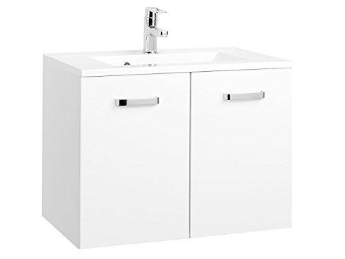 möbelando Waschtisch Badmöbel Badezimmermöbel Waschbecken Waschplatz Bad Bologna II (70 cm)