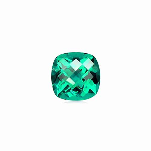 Instagem 2.20-2.60 Cts of 8 mm AAA Cushion Checker Board Madagascar Apatite (1 pc) Loose Gemstone