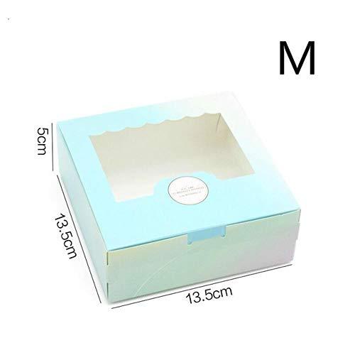 VLOU Yema de Huevo crujiente Caja de Regalo Caja de Pastel de Luna Caja de Pastel Caja de Miel de Nieve, 13.5x13.5x5cm