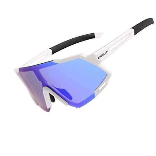 LIDIWEE Sportbrille Damen Polarisierte Sonnenbrille Herren, Unisex Radbrille Sport Brille mit Schutz Fahrradbrille Polarisiert Retro Sportbrille Outdoor Sunglasses Sonnenbrille für Radfahren