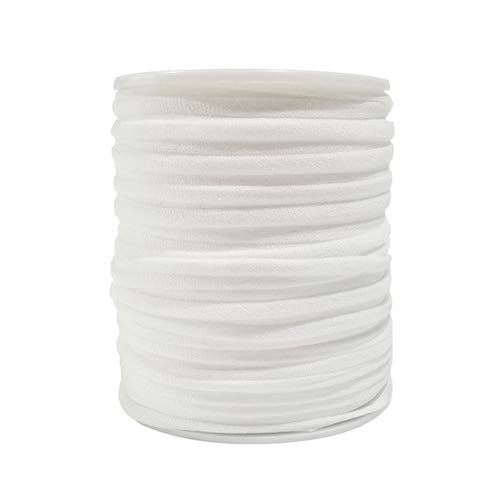 Cotton Elastic 1/4inch Elastic Band 30Yards Elastic Strap Elastic Cord Elastic Strap Sewing DIY Crafts (White)